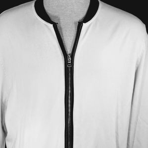 I.N.C Zip Up Snowfall White Sweater.. sz XL